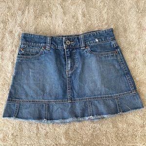 Gap women's mini denim skirt